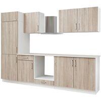 Ensemble d'armoires de cuisine 7 pcs avec hotte Aspect de chêne
