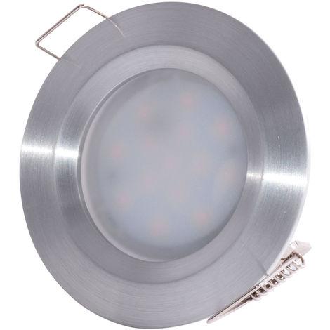 Ensemble de 10 spots encastrables à LED, aluminium, rond, L 7.8 cm, COIN SLIM