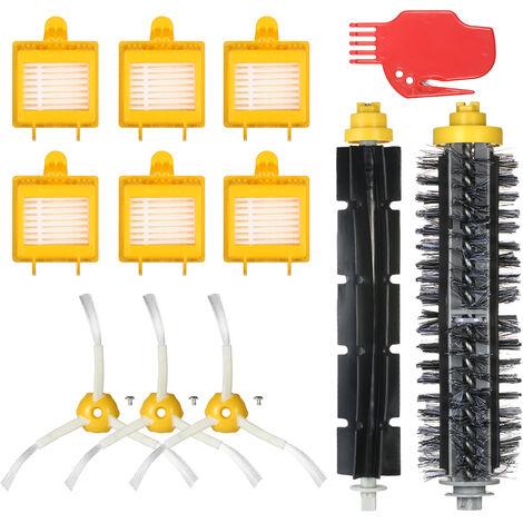Ensemble de 12 accessoires pour aspirateur serie Irobot7 (brosse en caoutchouc serie 6/7 + brosse a cheveux + element filtrant serie 7 + brosse laterale + nettoyeur plat)