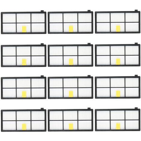 Ensemble de 12 accessoires pour aspirateur serie IRobot8 / 9 (12 filtres)
