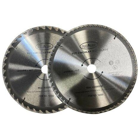 Ensemble de 2 lames de scie circulaire 300mm