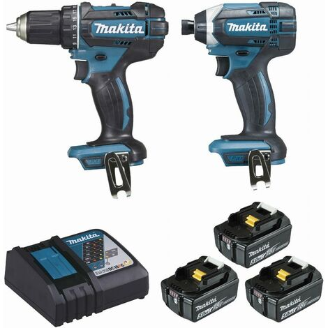 Ensemble de 2 machines MAKITA 18V Perceuse visseuse Ø 13 mm DDF482 + Visseuse à chocs 165 Nm DTD152 - DLX2127TJ1
