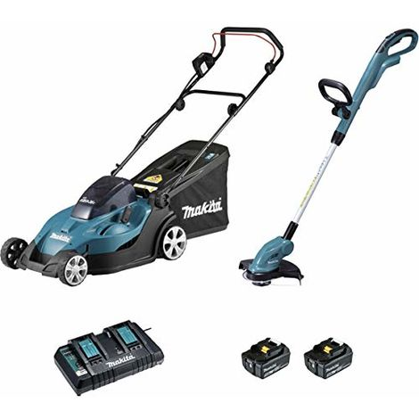 Ensemble de 2 machines tondeuse DLM431PT2 et coupe-herbe DUR181Z MAKITA
