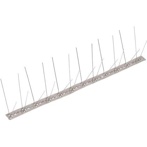 Ensemble de 20 pointes à 4 rangées contre oiseaux Inox 10 m