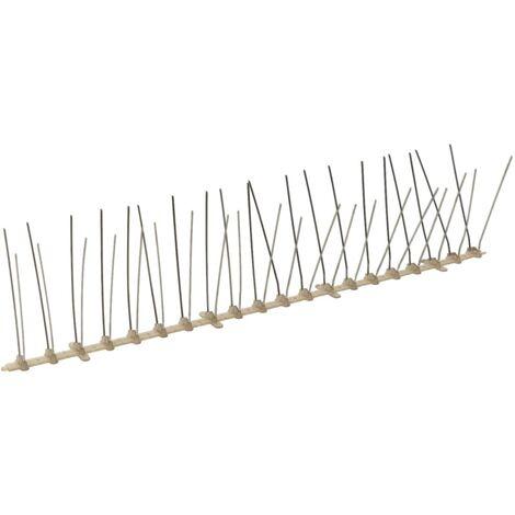 Ensemble de 20 pointes à 4 rangées contre oiseaux Plastique 10m