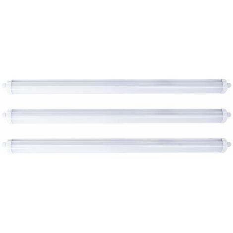 Ensemble de 3 baignoires LED 36W Lumières Éclairage de pièces humides Atelier de lampes de plafond pour entrepôts