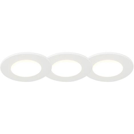 Ensemble de 3 spots encastrés pour salle de bain LED 5W blanc imperméable à l'eau - Blanca Qazqa Moderne IP65 Rond