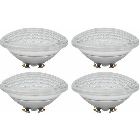 Ensemble de 4 ampoules de piscine LED PAR56 Baignoire 8 W blanche froide 6400 K 800 lumens