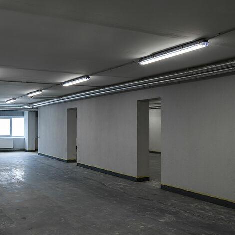 Ensemble de 4 baignoires de plafond LED 48W lampes tubes éclairage d'atelier projecteurs industriels lumière du jour
