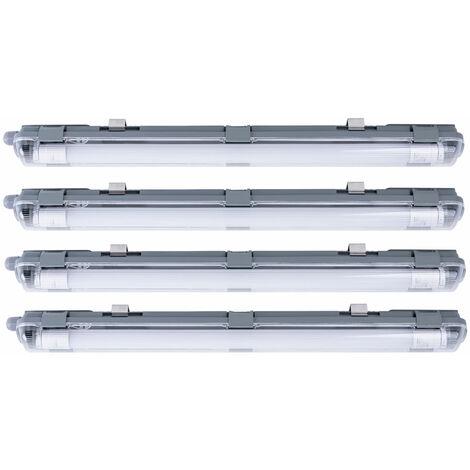 Ensemble de 4 tubes de plafond à LED Lampes Atelier industriel Lampes Daylight Light