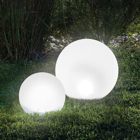 "main image of ""Ensemble de boule lumineuse solaire 20 & 30 cm Lampe de jardin boule solaire Lampe solaire esotec 102613"""