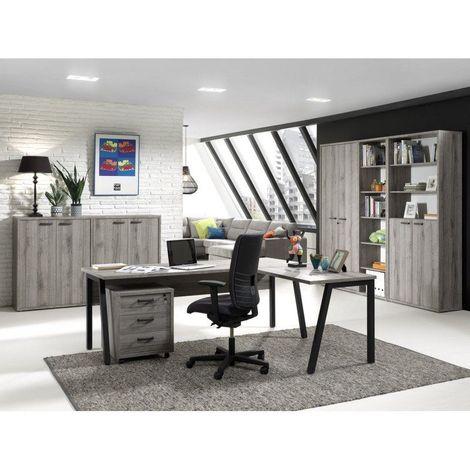 Ensemble de bureau contemporain gris Carlos Bureau 200 cm
