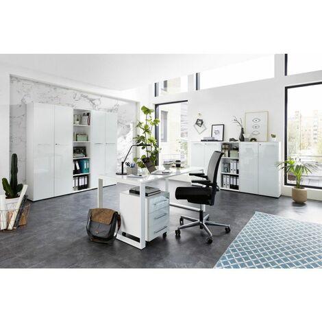 Ensemble de bureau moderne Monza Blanc