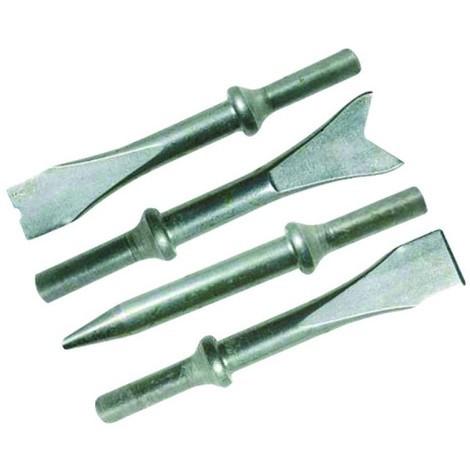 Ensemble de burins pour marteau pneumatique 4 burins