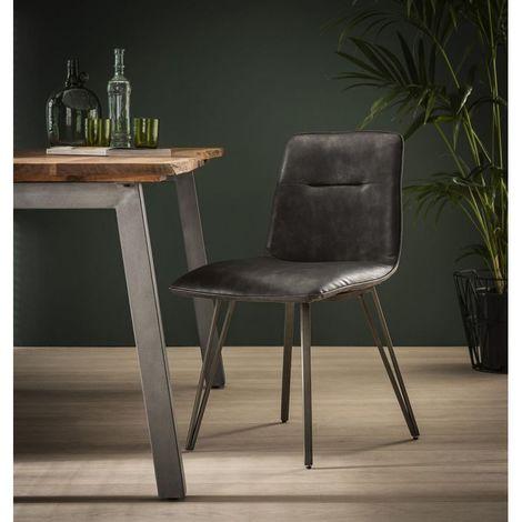 Ensemble de chaises vintage (lot de 4) Justine - Marron