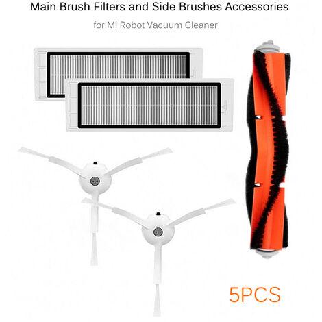 Ensemble de cinq accessoires pour aspirateur Xiaomi (1 brosse principale, 2 brosses laterales, 2 filtres)