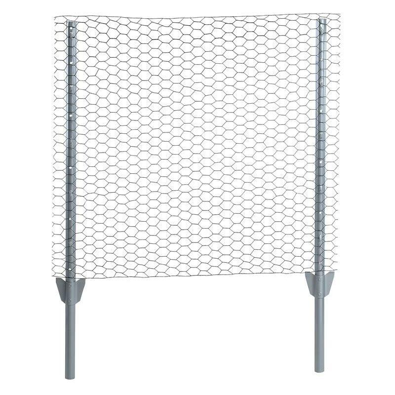 Ensemble de clôture grillagé hexagonal 0,50 x 10 m Ensemble complet 25 mm