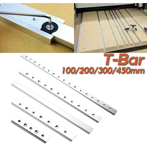 Ensemble de curseurs M6 M8 en alliage d'aluminium de 200 mm pour le travail du bois sur chenilles en T Mitre Track Stop Carpenter bricolage outils de travail du bois 200 mm T curseur + fil TT-Bar 0,2 m de type M6M8
