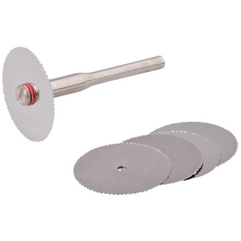 Ensemble de disques de coupe HSS pour outil rotatif 6 pcs - 22 mm de diamètre