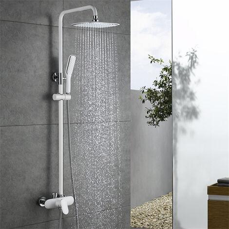 ensemble de douche blanche colonne de douche corps en. Black Bedroom Furniture Sets. Home Design Ideas