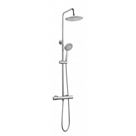 Ensemble de douche chrome - mitigeur thermostatique - tete diam. 22 cm - Winsley - AZZURO