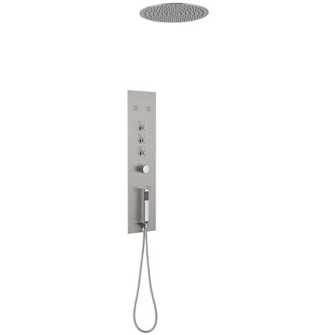 Ensemble de douche encastrable avec colonne thermostatique - Colonne de douche encastrable ...