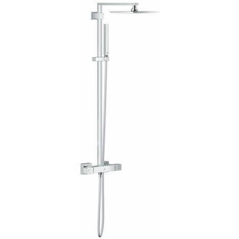 Ensemble de douche GROHE EUPHORIA CUBE avec douchette, bras de douche et flexible, chrome, ref. 26087000