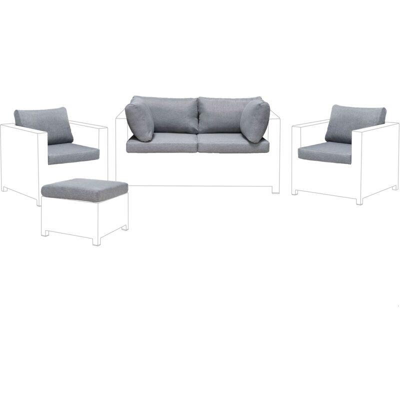 Beliani - Ensemble de housses de coussins gris pour le meuble de jardin MILANO