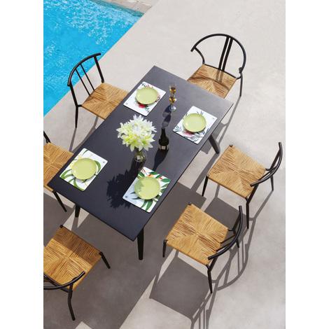 Ensemble de jardin IRIS avec table et 6 chaises en aluminium