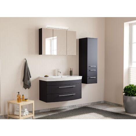 Ensemble de meuble de salle de bain Toscana 100 (3 Pièces) anthracite satiné