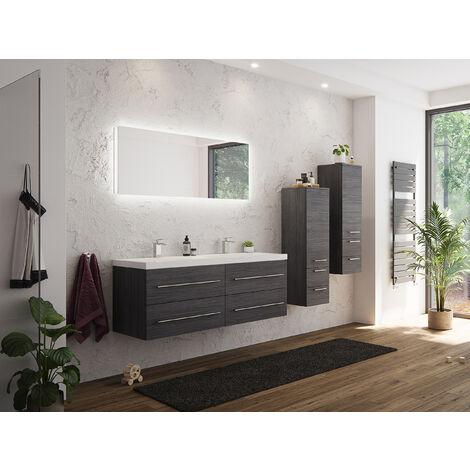 Ensemble de meuble de SDB Persepolis XL en charbon antique 4 pièce 2 colonnes