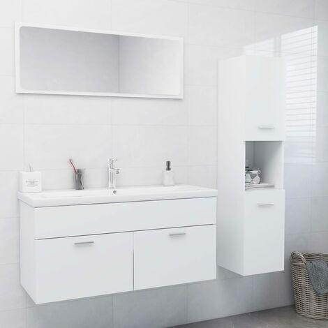 Ensemble de meubles de salle de bain Blanc Aggloméré5894-A