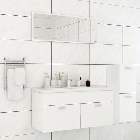 Ensemble de meubles de salle de bain Blanc Aggloméré5909-A