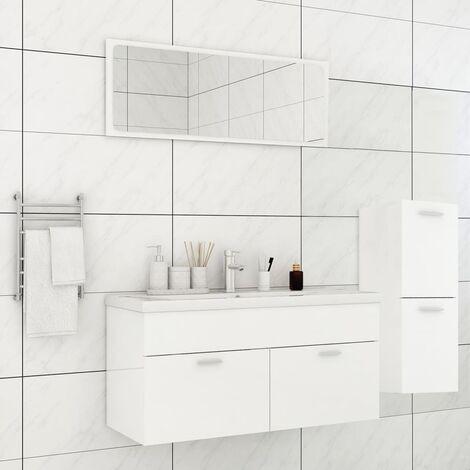Ensemble de meubles de salle de bain Blanc brillant Aggloméré5910-A
