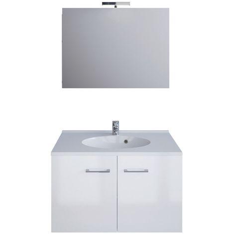 Ensemble de meubles Smart Pack - L. 80 cm - Blanc brillant - Blanc