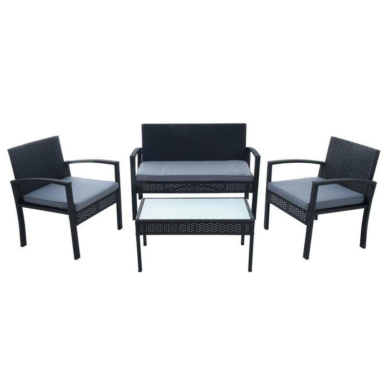 Ensemble d'assise en polyrotin Set de meubles de jardin Set lounge de jardin noi