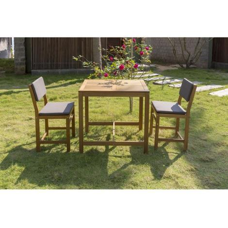 Ensemble de mobilier de jardin ou de balcon 2 places - 1 table et 2 ...