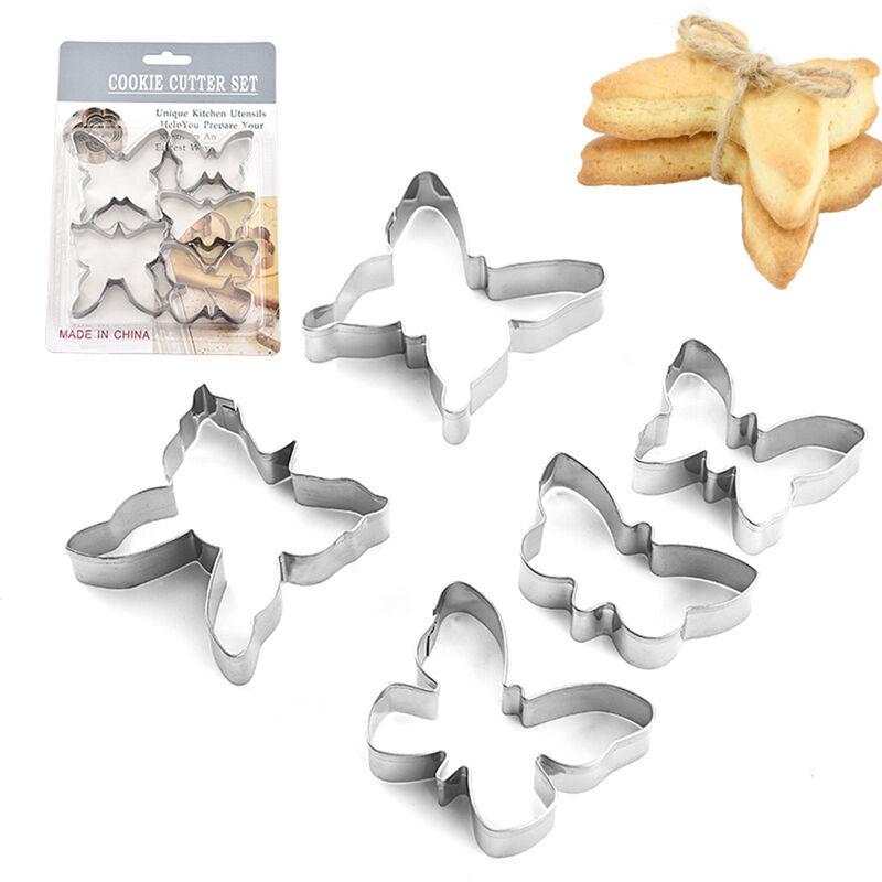 Happyshopping - Ensemble de moules a biscuits en acier inoxydable en forme de papillon Coupe-biscuits Gadgets de cuisine Outil de cuisson pour la