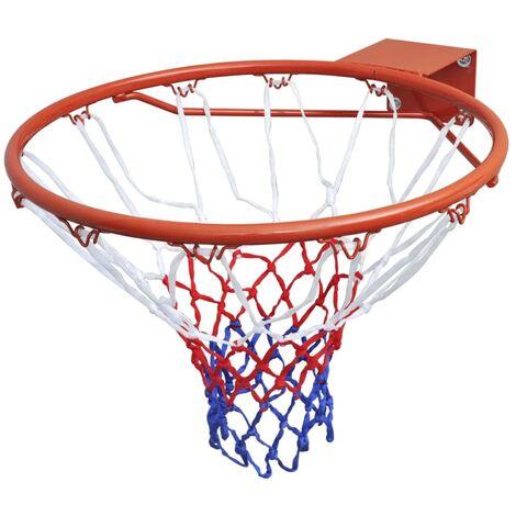Ensemble de panier de basket-ball avec filet Orange 45 cm