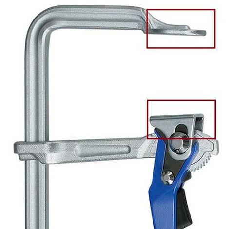 Ensemble de patins de protection plastique supérieur et inférieur pour serre joint ZU-G25L-30L12-40L12-50L12