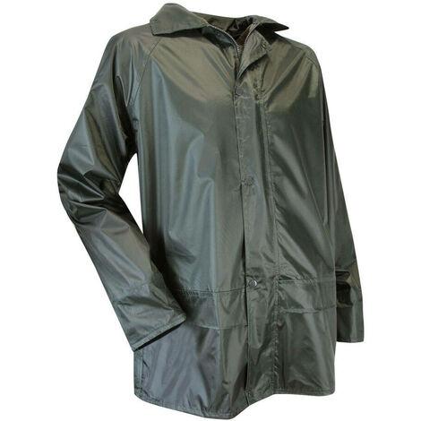 Ensemble de pluie veste et pantalon enduction PVC imperméable - Gamme Medium Pluie - AVERSE - KAKI FONCE - 1307 - LMA Lebeurre