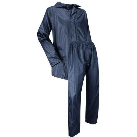 Ensemble de pluie veste et pantalon enduction PVC imperméable - Gamme Medium Pluie - AVERSE - MARINE - 1307 - LMA Lebeurre