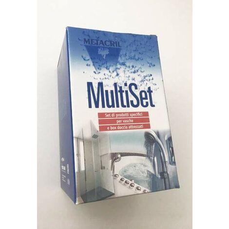 Ensemble de produits spécifiques pour baignoires et cabines de douche Metacril Multiset 02000001 | 0,5 litres