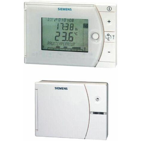 Ensemble de régulation de température avec programme horaire hebdomadaire sans fil REV24RF/SET-XA - SIEMENS