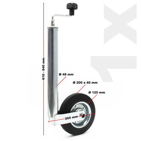 48mm Remorque Caravane Roue Jockey ou Béquille Latérale Attache