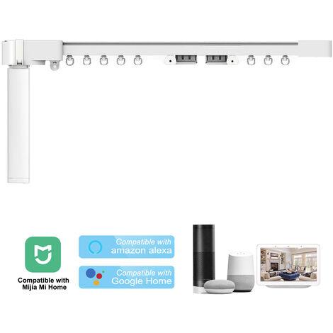 Ensemble de rideau electrique intelligent Xiaomi WiFi Controleur de rideau electrique intelligent Fonction 433 MHz sans telecommande expediee, 2.2 M EU