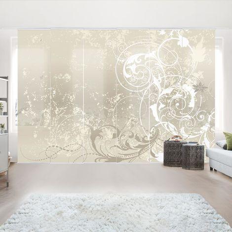 Ensemble de rideaux coulissants - Nacre Ornament Design - 6 Rideaux à panneaux