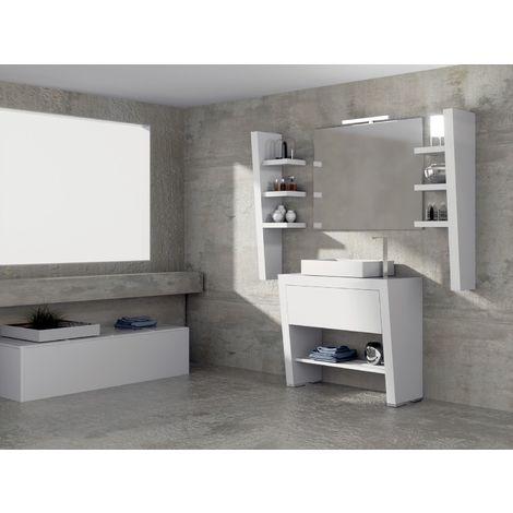 Ensemble de salle de bain ECLIPSE 29 80cm Meuble blanc sur pieds