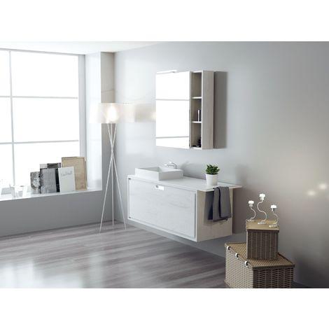 Ensemble de salle de bain FUTURE 06 100cm Chêne blanc