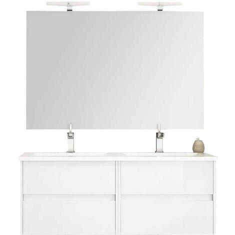 Ensemble de salle de bain LERMA 120 cm Blanc Brillant